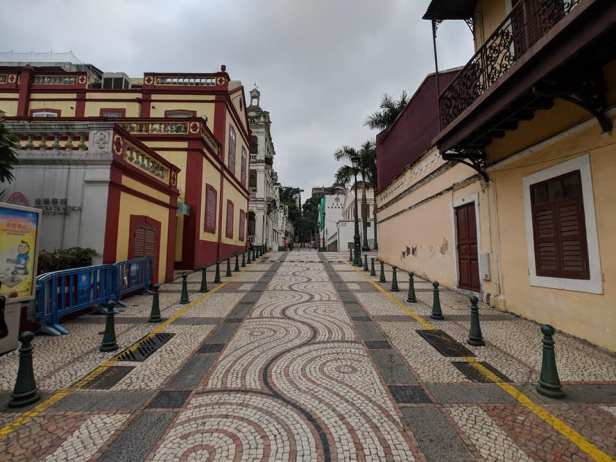 Macau's Portuguese-style tiled streets