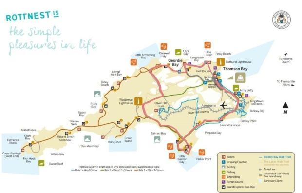 Rottnest Island Map