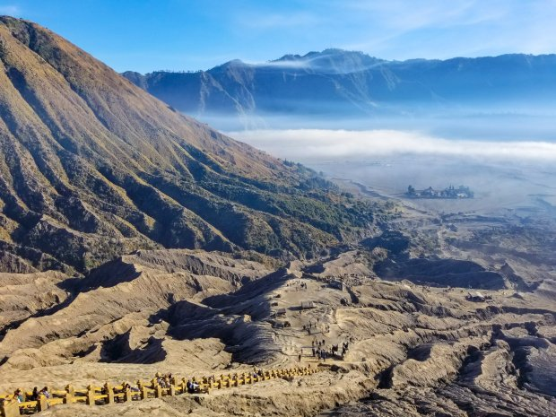 Sea of Sand from Mount Bromo