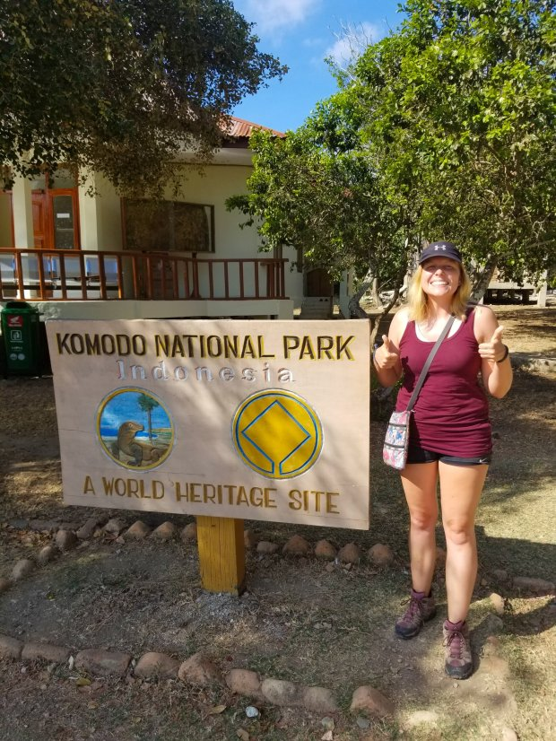 Sarah at Komodo National Park
