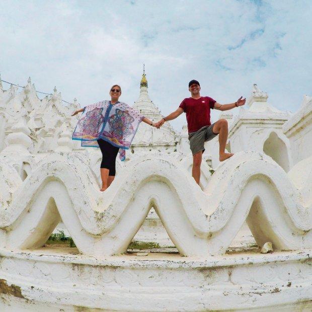 Hsinbyume Pagoda Mandalay Mingun Myanmar
