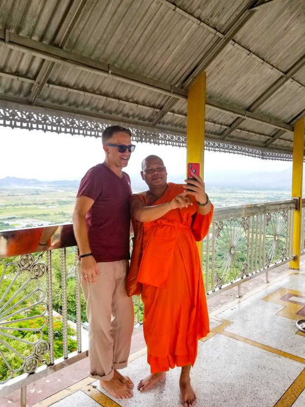 Monk selfie Mandalay Hill