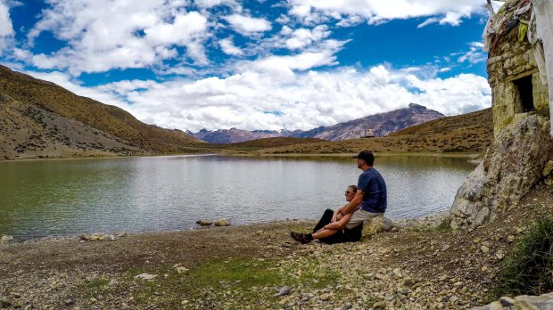 Dhankar Lake, Spiti Valley, Himachal Pradesh India