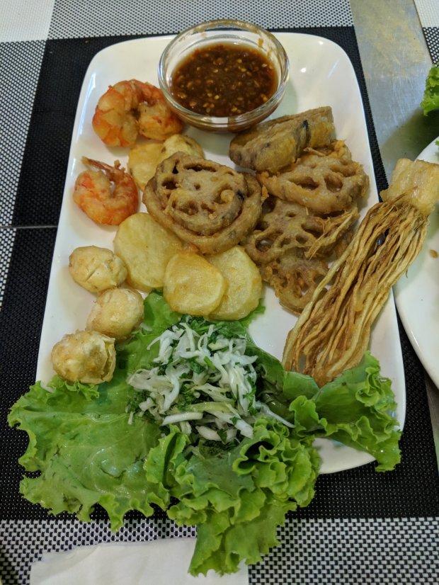 Tempura veggies in Yangon, Myanmar