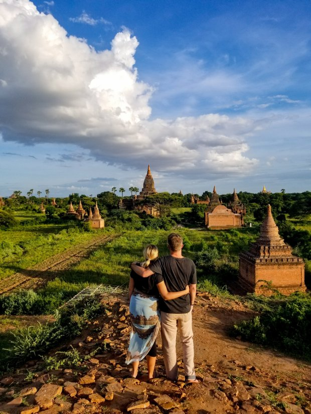 Sunset over Bagan, Myanmar