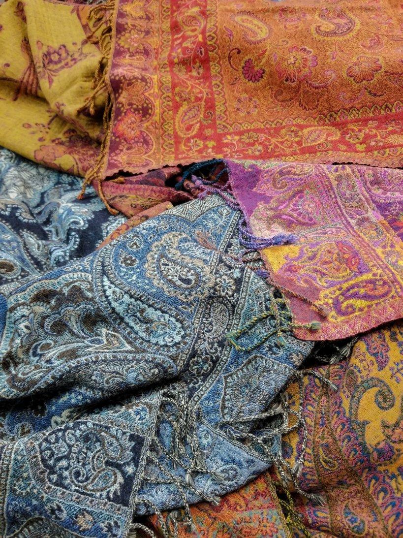 Indian silk scarves
