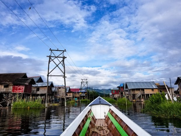 Boating on Inle Lake