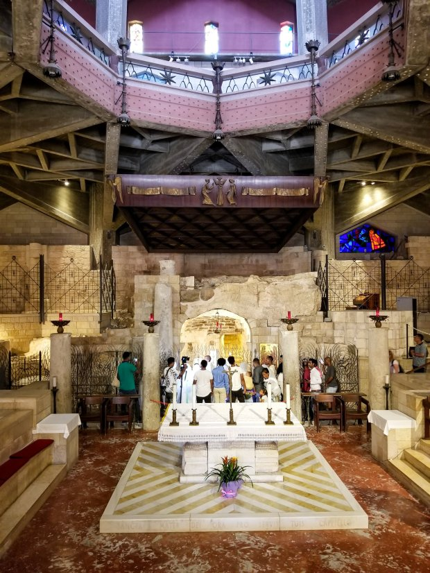 Mary's cave in Basilica of the Annunciation