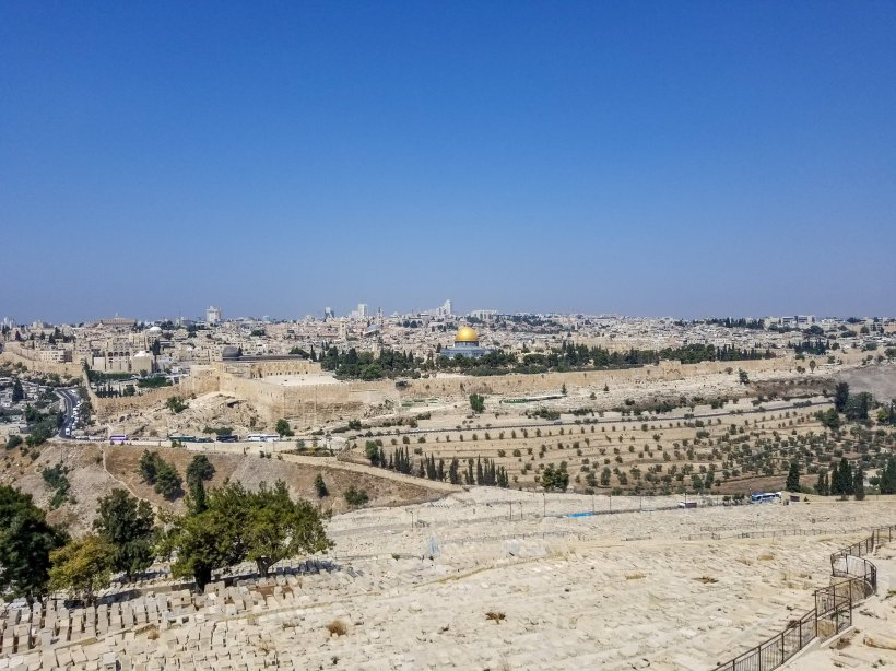 View of Jerusalem from the Mount of Olives Israel