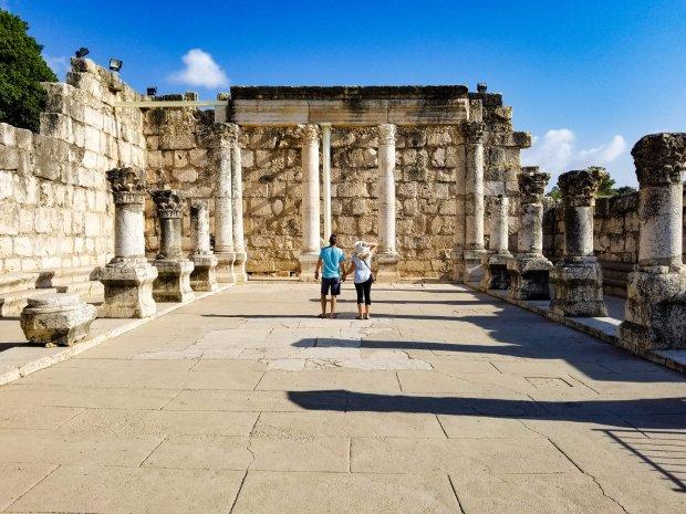 Synagogue ruins Capernaum Israel