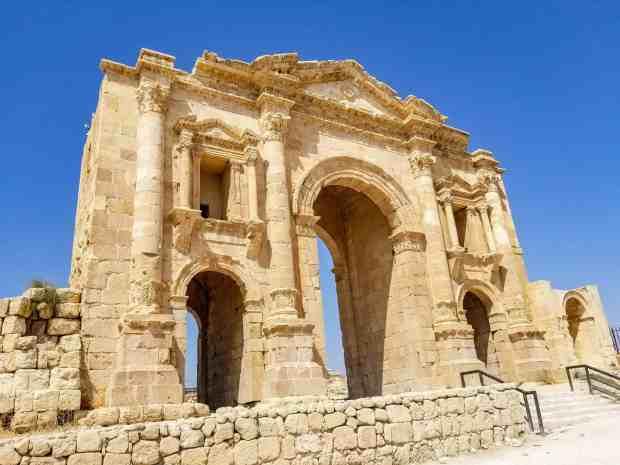 Hadrian Arch Jerash Jordan