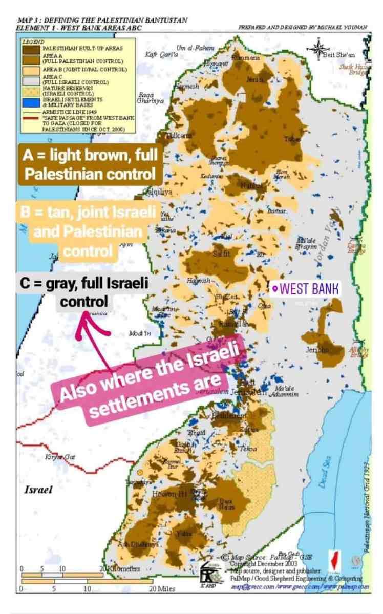 West Bank A B C