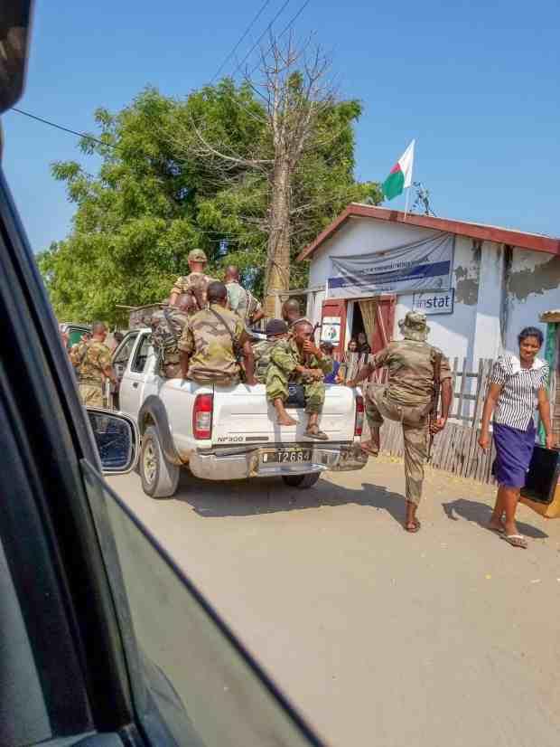 Military escort Morondava Madagascar