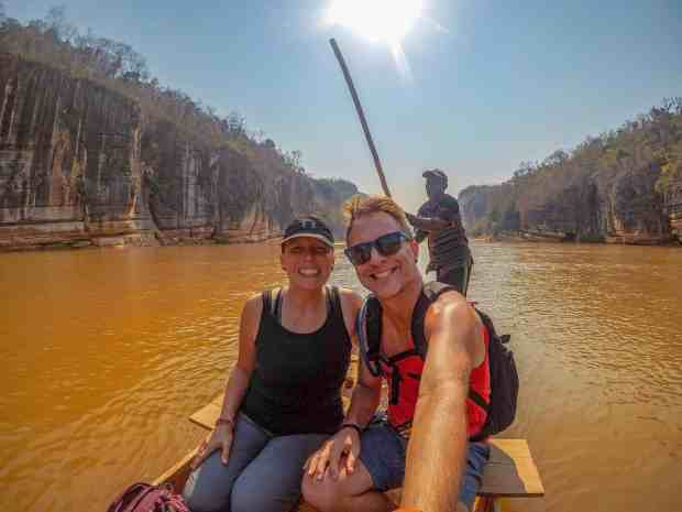 Pirogue ride down the Manambolo Gorge Madagascar