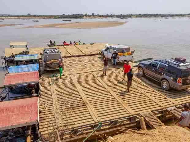 The car ferry to Bekopaka, Madagascar