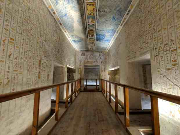 Ramses IV tomb valley of the kings luxor egypt
