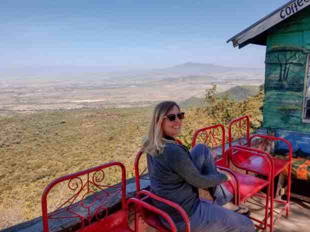 Overlooking the Great Rift Valley in Kenya