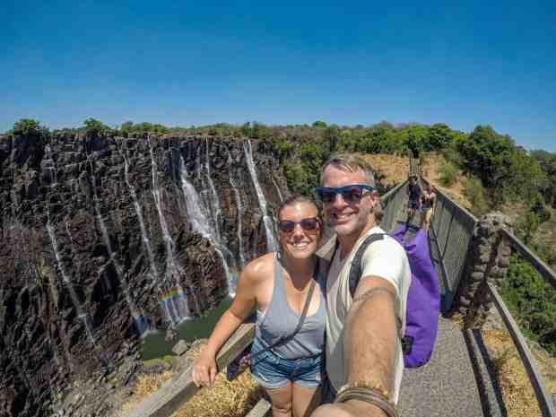 Zambia Victoria Falls dry season