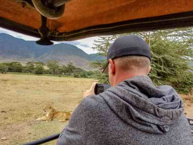 Lion safari Ngorongoro Crater Tanzania