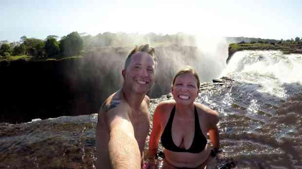 Devils pool at Victoria Falls Zambia