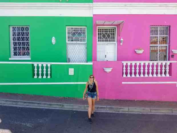 The colorful homes in Bo Kaap Cape Town, South Africa