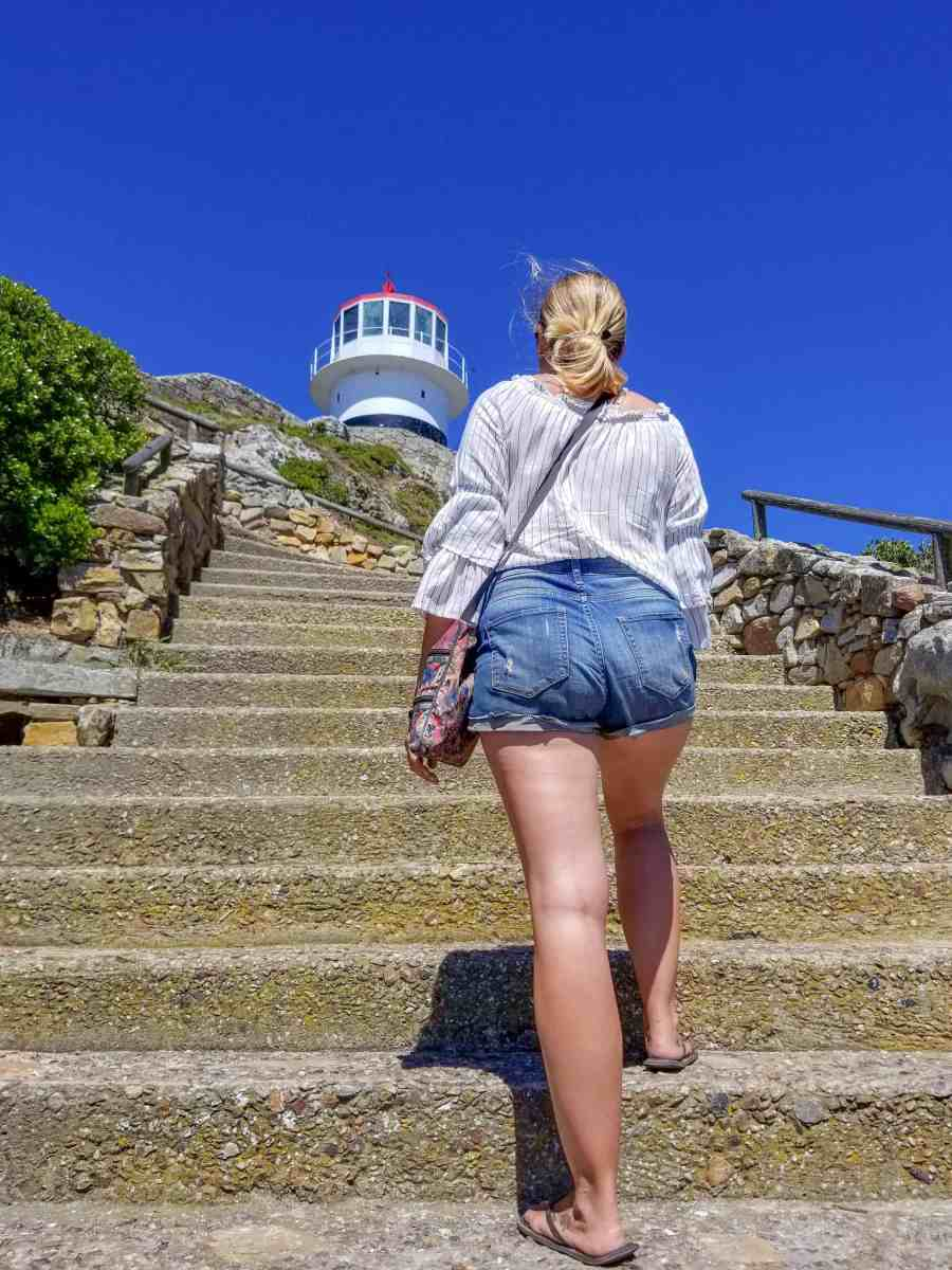 Hiking up to the Cape Point lighthouse cape Peninsula south africa