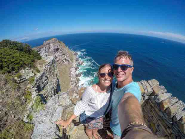 View from Cape Point overlooking the Atlantic and Indian Ocean South Africa