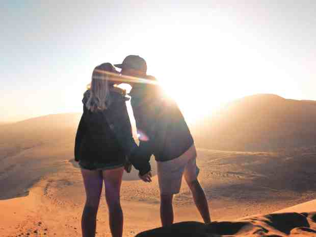 Sunrise kiss dune 45 Namibia