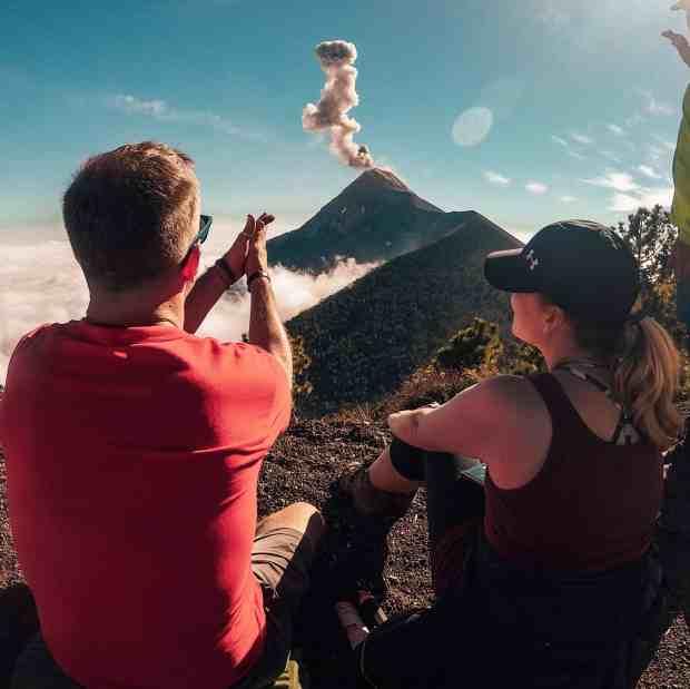 Views from Acatenango Volcano hike, Guatemala