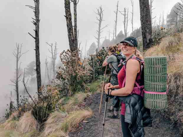 Acatenango Volcano hike forest, Guatemala