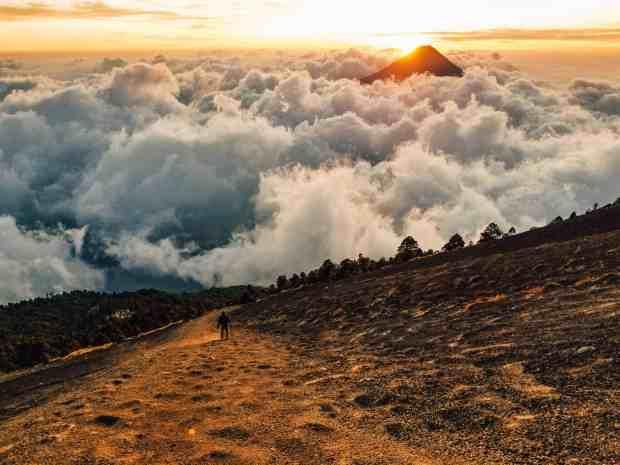Sunrise from the summit of the Acatenango Volcano hike