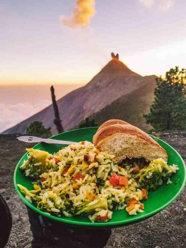 Dinner with Fuego Volcano, Guatemala