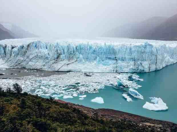 Perito Moreno Glacier as seen from the boardwalks