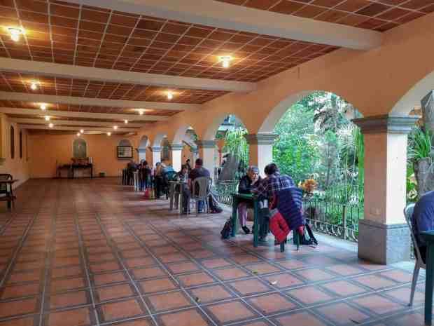 Antigueña Spanish Academy garden classroom