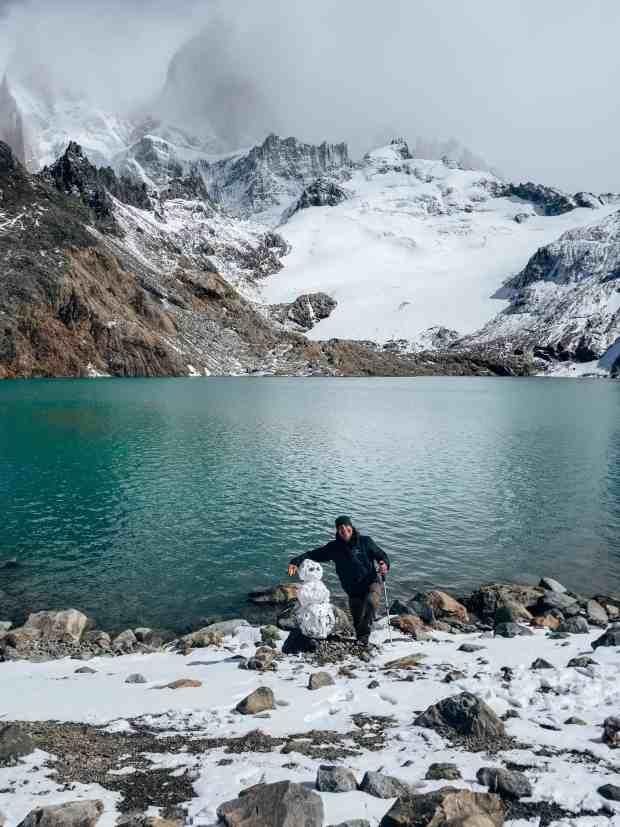 Snowman at Laguna de los Tres El Chaltén Argentina Patagonia