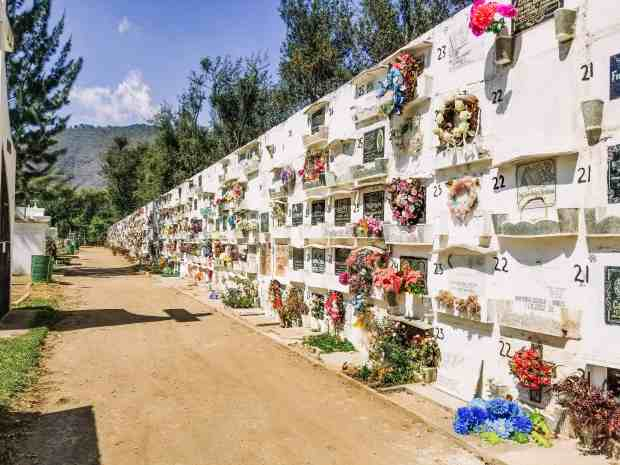 The local cemetery in Antigua, Guatemala