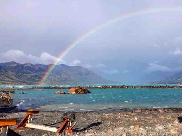 Rainbow at Lago Argentino El Calafate, Argentina, Patagonia