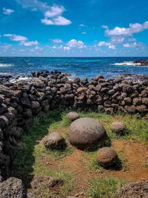 The magnetic stone of Ahu Te Pito Kura Easter Island Rapa Nui Chile