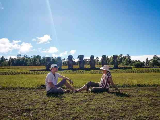 Ahu a Kivi Rapa Nui Easter Island Chile