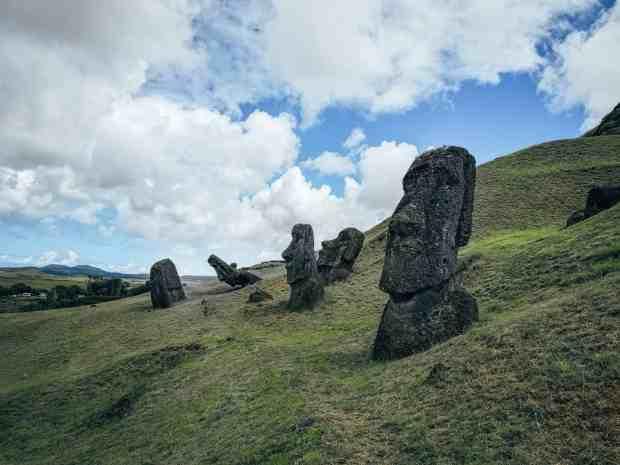 Rano a Raraku Rapa Nui, Easter Island, Chile