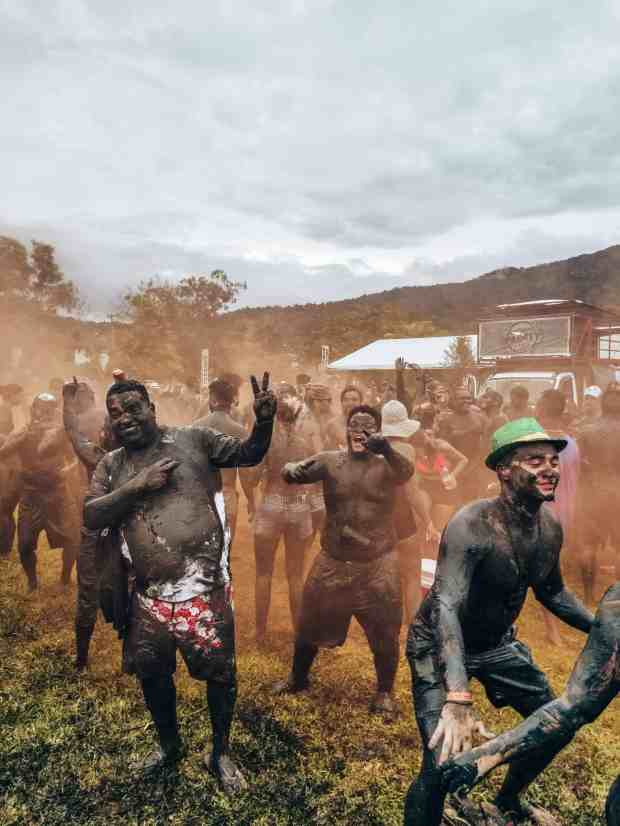 Bloco Da Lama Carnaval party in Paraty, Brazil
