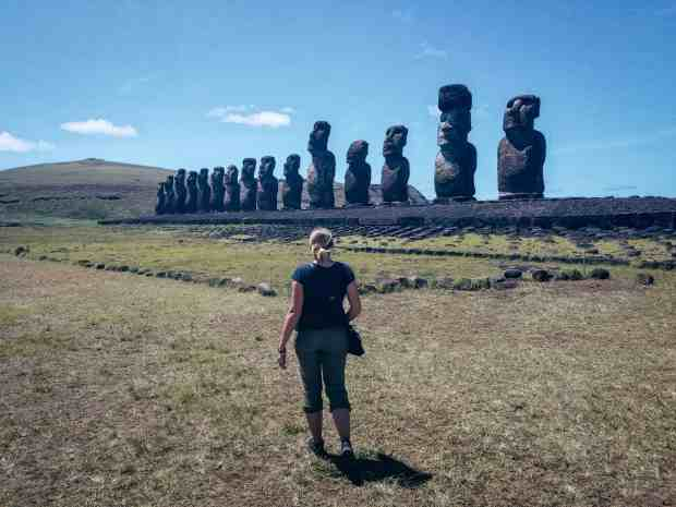 The 15 moai of Tongariki Easter Island Rapa Nui Chile