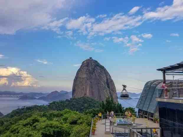 The cable car up Sugarloaf Mountain, Rio de Janeiro, Brazil