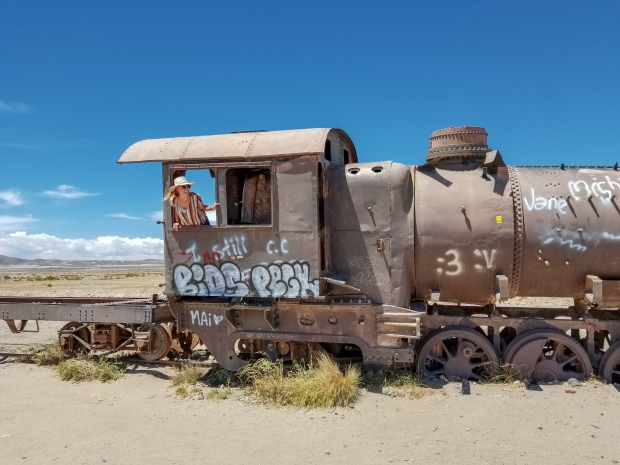 Train cemetery in Uyuni, Bolivia