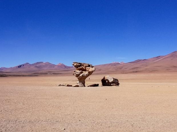 Árbol de Piedra in Siloli Desert, Bolivia