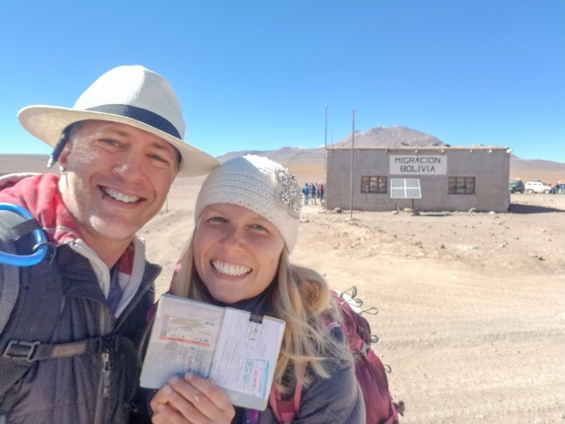 We narrowly managed to get into Bolivia!