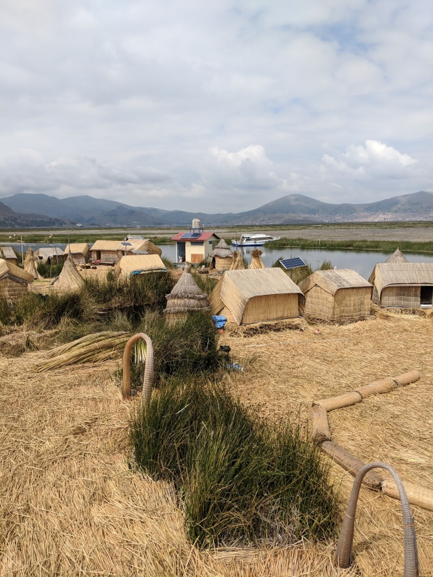 Village in the Uros floating islands