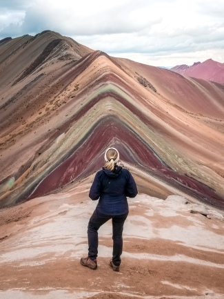 The famous Vinicunca, or Rainbow Mountain